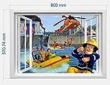 infans Feuerwehrmann Sam Wand Aufkleber 3D-Fenster, Kids