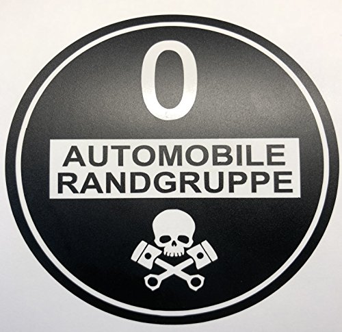 Autoaufkleber Fahrverbot Umweltzone Aufkleber Sticker Feinstaub Umwelt Plakette Diesel Schwarz JDM Tuning Fun Lustig Auto Motorrad LKW f/ür au/ßen 2 St/ück