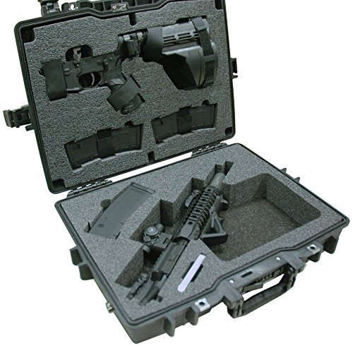 Case Club Pre-Made Waterproof Compact AR-15 Case with Silica Gel to Help Prevent Gun Rust