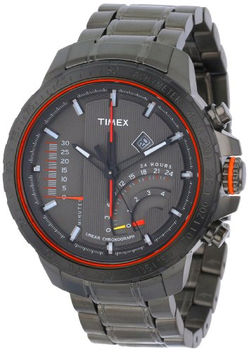 Timex Men's T2P273DH 'Adventure Series' Stainless Steel Bracelet Watch