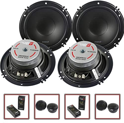 2 Pair Cerwin Vega 2 Way 6 5 Component Speaker System Tweeter Crossover XED650C product image