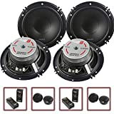 2 Pair Cerwin Vega 2-Way 6.5' Component Speaker System Tweeter Crossover XED650C