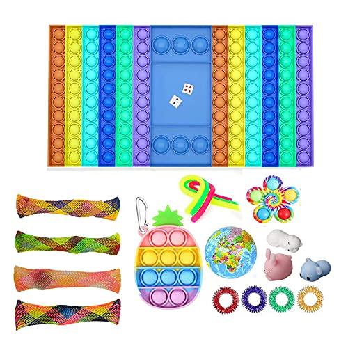 Goozy Fidget Toy Pack 20 pcs de Juguetes Sensoriales Fidgets Toys Pop It, Juguetes y Complementos Antiestrés para Niños y Personas con Necesidades Especiales, Alivia la Ansiedad (Pack 20 pcs)