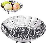Cesta para vaporera de verduras, olla instantánea plegable ajustable de acero inoxidable y accesorios para olla a presión (diámetro 30 cm)