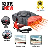2019 NEW Portable Car Heater2 in 1 Car Heater Auto Electronic Heater Fan 30 Seconds Fast Heating Quickly Defrosts Defogger 12V 150W Auto Ceramic Heater Cooling Fan 3-Outlet Suitable for All Cars