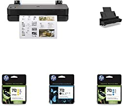 """HP DesignJet T230 Large Format Compact Wireless Plotter Printer - 24"""" (5HB07A), with Multipack and High-Capacity Genuine I..."""