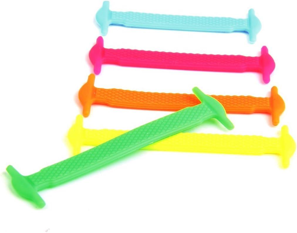 5Five 12 Pezzi Lacci Elastici per Scarpe in Silicone per Bambini