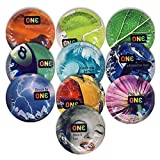 ONE Color Sensations with Silver Lunamax Pocket Case, Premium Colored Lubricated Latex Condoms-24 Count