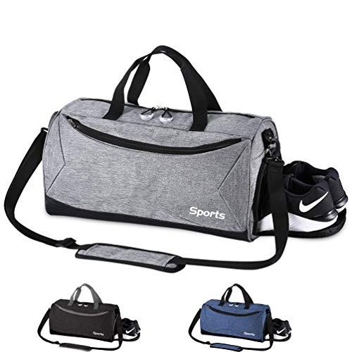 PANENDIANO Sporttasche Faltbare Reisetasche modisch wasserdicht mit dem schmutzigen Fach und Schuhfach für Damen und Herren Fitnesss Yoga Freizeit Gym
