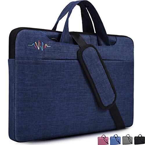 dealcase 38,1-39,6 cm (15-15,6 Zoll) Laptophülle für Damen & Herren, schlicht, (dunkelblau), 14-15.4 Inch