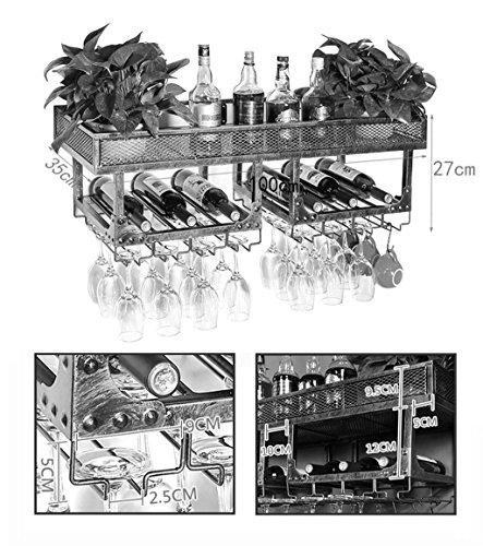 Organisation der Küchenlagerung Weinregale Vintage Wandhalter Metall Doppelschicht freistehend |...