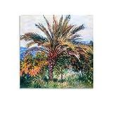 Póster de pintor francés Claude Monet, cuadro decorativo para pared de 40 x 40 cm