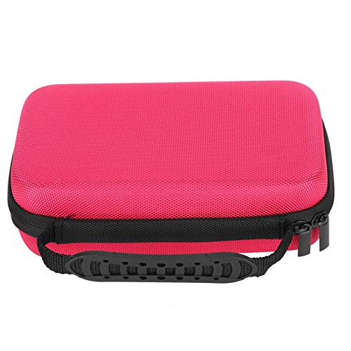 Caja de almacenamiento, bolsa de papelería duradera portátil de 4 colores, multifunción con múltiples compartimentos para estudiantes artistas (rosa roja)