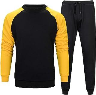 طقم/بدلة رياضية كاجوال باكمام طويلة عبارة عن قميص وسروال للجري والهرولة للرجال من لافنيس