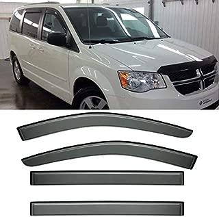 IINAWO 4x For 2008-2016 Chrysler Town & Country 2008-2016 Dodge Grand Caravan Sun Rain Guard Vent Shade Side Window Wind Deflectors Window Visors