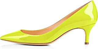 Womens Classic Pointed Toe Mid Heel Large Size Dress Party Pumps Shoes