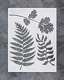 GSS Designs Wandmalerei Blattschablonen – Farn Wandkunst Malschablonen – Malwerkzeuge