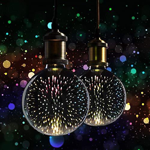 2 x XQ-lite LED Leuchtmittel Globe G125 3,5W E27 3D Feuerwerk Effekt Dekoration