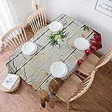Mantel de Algodón y Lino,Recetas modernas para cocinar verduras Chef Utens,Decorativo a Prueba de Polvo, Uso para la Mesa de Comedor, Banquete, Sirve para Las Mesas Cuadradas y Redondas (140 * 200 cm)