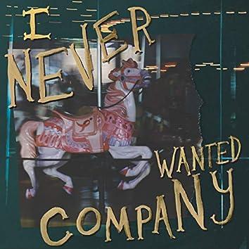 I Never Wanted Company