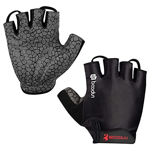 Neusky Fahrradhandschuhe für Männer & Frauen, Radsporthandschuhe Mountainbike Handschuhe Trainingshandschuhe für Dame und Herren, Ideal Fingerlos Handschuhe für Rennrad, MTB (Premium-Schwarz, XL)