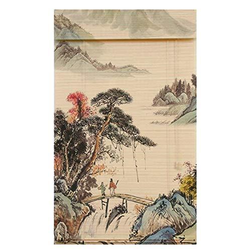 CAIJUN Persiana De Bambú Impresión HD Protector Solar Ventilación Decoraciones De Interior Muebles Orientales, 4 Estilos, Tamaño Personalizado (Color : C, Tamaño : 150x225cm)