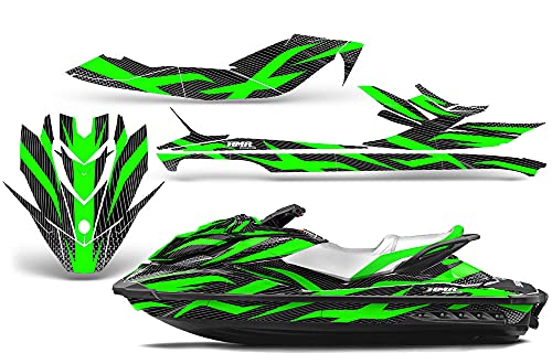 AMR Racing Jet Ski Graphics kit Sticker Decal Compatible with Sea-Doo GTI SE130 2011-2019 - Zooted Green Black