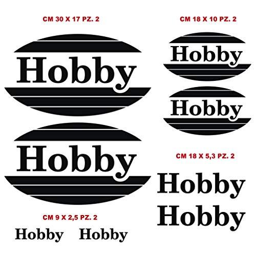 Aufkleber-Set, kompatibel mit Hobby Decla Decla Camper Caravan Caravan Caravan Wohnwagen Code 1216 (070 Schwarz)