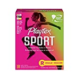 Playtex Sport Tampons, Unscented Regular Absorbency, 18 Count tampons Mar, 2021