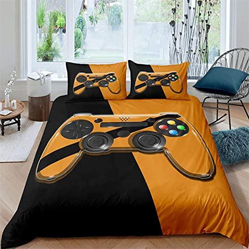 LPFNSF Juego de ropa de cama con funda de edredón y diseño de gamepad, juego de ropa de cama con cremallera, para niños y adolescentes, 200 x 200 cm