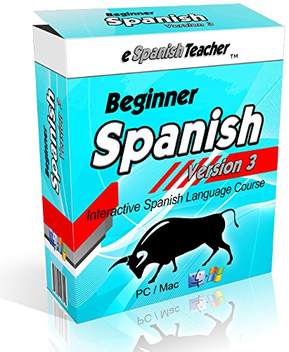 eSpanishTeacher's Beginner Spanish Language Course Software Lessons Version 3.0 with Bonus 101 Spanish Verbs
