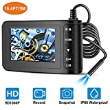 Industrial Endoscope with 4.3 inch LCD Color Screen 2MP Snake Camera 8mm...