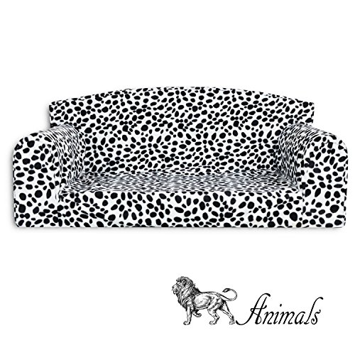 Animal Dalmatian Pet Sofa. 3 sizes Dog bed cover material. Made in UK (Large 96cm x 64cm x 34cm)