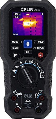 FLIR DM166 TRMS Multimeter mit Wärmebildkamera und IGM (Infrarotgesteuerter Messhilfe), Schwarz