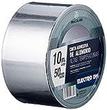 Nastro adesivo di alluminio speciale temperatura uso ventilazione e isolamento larghezza 50mm Lunghezza 10m ElectroDH 04.465