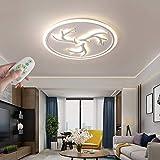 WANG-LIGHT Dimmbar Kreative Wohnzimmer LED Deckenlampe Schlafzimmer Runde LED Deckenleuchte Geweih Ultradünn Design Modern Minimalistisch Leuchte für Esszimmer Foyer,Weiß,78cm/30.7in