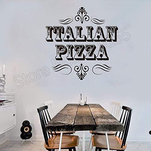 JXLLCD Mode Klassiker zitiert Muster Wandaufkleber Home Restaurant Küche Dekoration Logo Vinyl Dekoration Pizzeria kreative Moderne Wandbild 42x42 cm