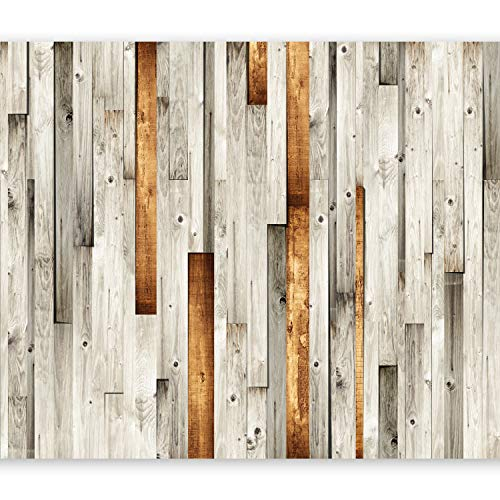 murando Fotomurales 50x35 cm XXL Papel pintado tejido no tejido Decoración de Pared decorativos Murales moderna Diseno Fotográfico madera marron f-a-0037-a-b