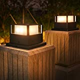 Solpex Solar Post Lights, Solar Fence Post Lights Powered Fit...