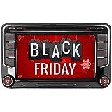 "iAuch Car GPS Navigation Stereo DVD Player 2-Din Sat Nav head unit with 16GB SD Card Touch Screen RDS Radio Bluetooth for VW Passat Golf MK5 MK6 Touran Tiguan Polo Caddy EOS CAN-BUS (7"")"