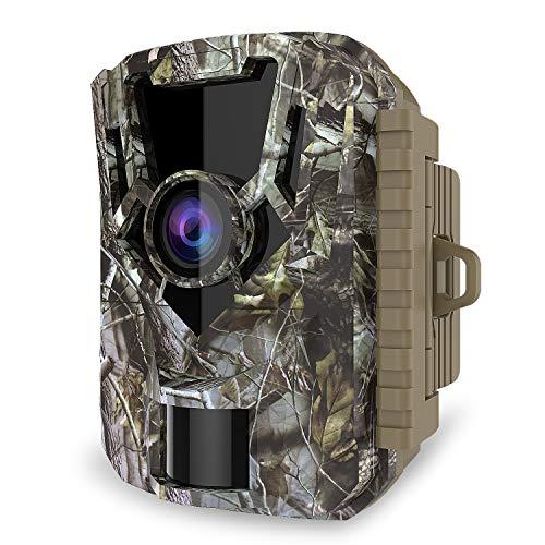GEARSTONE Wildkamera - Jagdkamera - 16 MP 1080 P HD-Kamera, PIR-Bewegungssensor mit Nachtsicht Schwarzlicht Wasserdicht Klein für Jäger Garten Outdoor