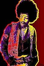 Jimi Hendrix - Psychedelic Pop Art - PAPER Poster Measures 23.5