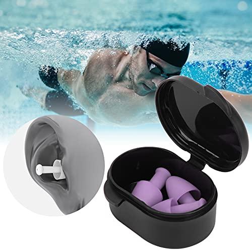 Zwemoordopjes, Zwemoordopjes Siliconenmateriaal voor waterspelletjes voor dagelijks baden voor zwemtraining(Anemone Purple)