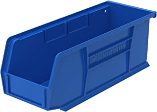 Akro-Mils 30224 Plastic Storage Stacking Hanging Akro Bin, 11-Inch by 4-Inch by 4-Inch, Blue, Case of 12 photo