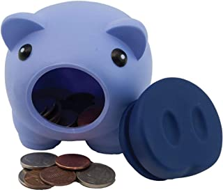 Alpen Glow Products Piggy Banks (Coin Holder) (Plastic Pigs for Storing Money, Coins, Miz)(Multiple Colors)(3 Pigs Per Pack)(Purple, Green, Blue)