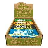 BodyMe Barritas Proteinas Veganas Organica | Caja Mixta | 12 x 60g Barra Proteina Vegana | Sin Gluten | 16g Proteína Completa | 3 Proteina Vegetal | Aminoacidos Esenciales | Vegan Protein Bar