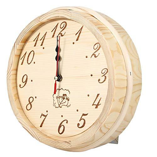 Reloj, reloj de pared de 23 cm de diámetro, accesorios de sauna, elegante dormitorio práctico resistente a altas temperaturas para sala de sauna