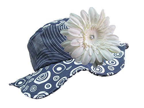 Jamie Rae Hats - Navy Blue Sun Hat with White Daisy, Size: 4-6Y