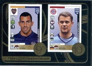 2016-17 Panini FIFA 365#12 Tevez-Neuer Golden Sticker Soccer Sticker