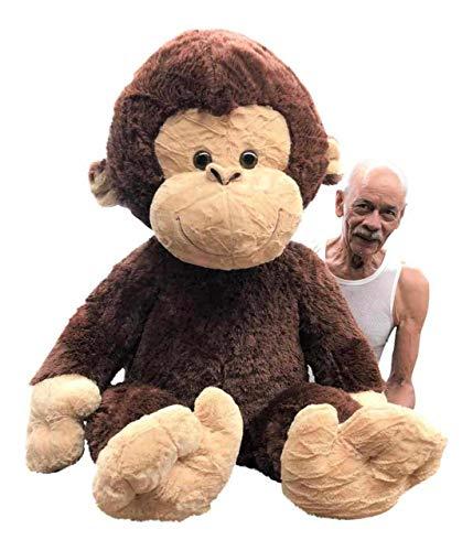Giant Stuffed Monkey - Large 4-Foot...